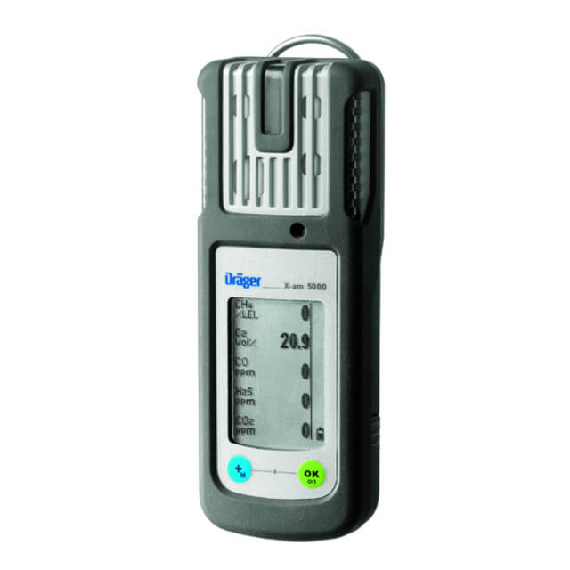5 gas monitor Drager X-am 5000 for combustible, toxic gases and oxygen monitoring