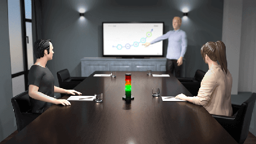 CO2 detection in meeting room as protection against covid 19